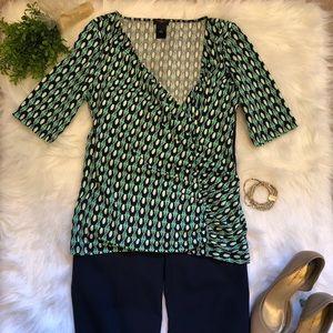 Women's Ann Taylor Small Blue/Green Blouse